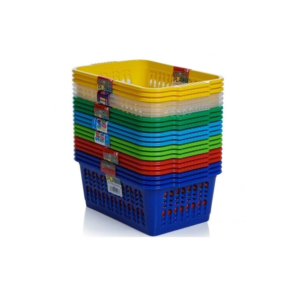 Pack Of 3   Medium Plastic Handy Tidy Storage Basket
