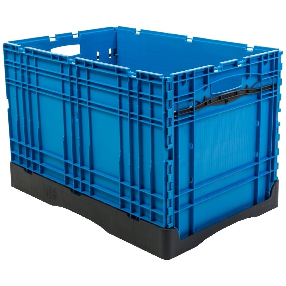 buy plastic 80 litre collapsible tote box