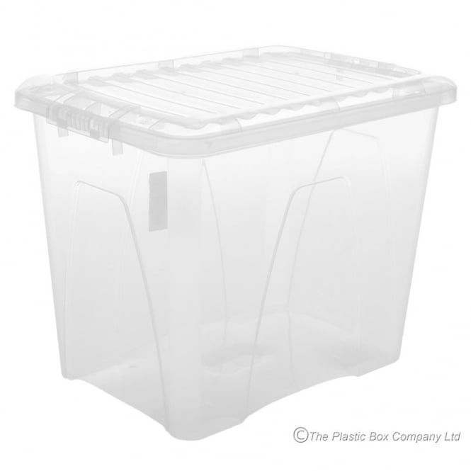 Pack of 3 - 75 Litre Nice Plastic Storage Boxes with Lids