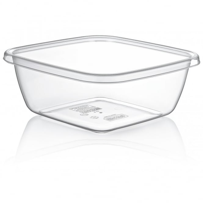3.5 Litre Square Clear Washing Up Bowl