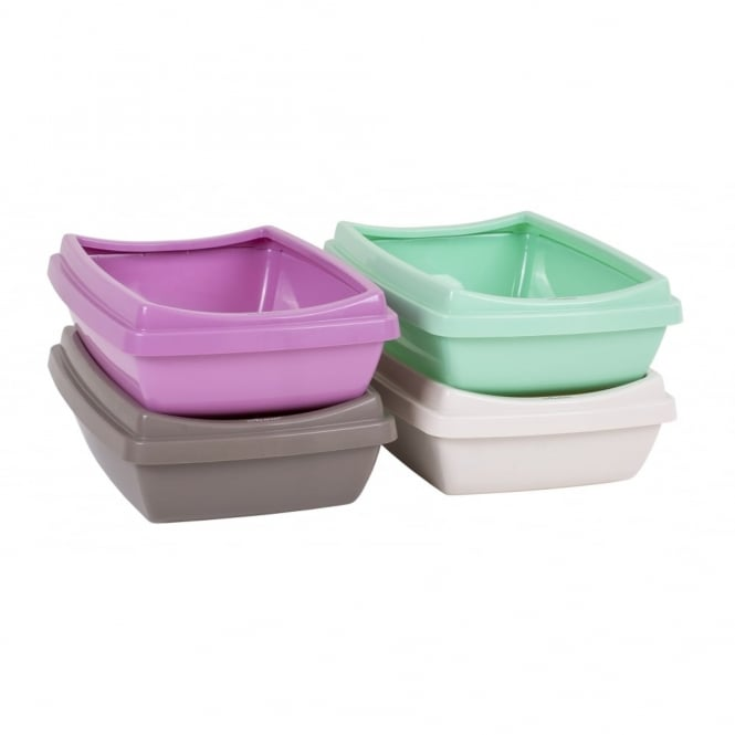 Rimmed Cat Litter Tray with Anti Slip Feet