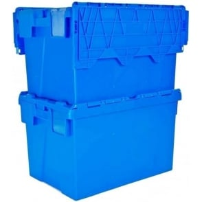 Pack of 4 - 25 Litre Heavy Duty ALC Plastic Storage Boxes With Attached Lids