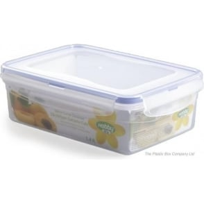 Hobby Life 1.4 Litre Rectangular Plastic Food Storage Box With Clip Lid