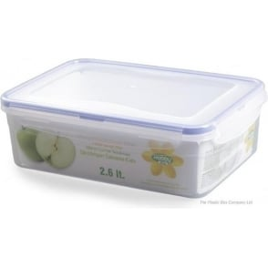 Hobby Life 2.6 Litre Rectangular Plastic Food Container With Clip Lid