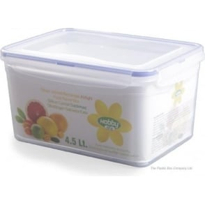 Hobby Life 4.5 Litre Rectangular Plastic Food Storage Box With Clip Lid