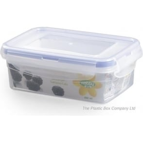 Hobby Life 400ml Rectangular Plastic Food Storage Box With Clip Lid