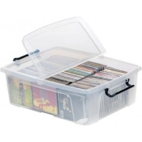 Strata Pack of 5 - 24 Litre Smart Storemaster Plastic Storage Boxes with Lids