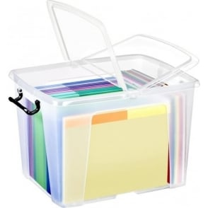 Strata Pack of 4 - 40 Litre Smart Storemaster Plastic Storage Boxes with Lids