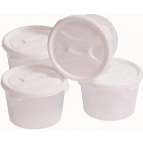 Wham Storage Set of 4 - 300ml Plastic Handy Baby Food Pots