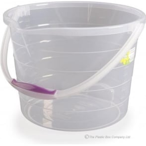 Hobby Life 13 Litre Clear Stepped Plastic Bucket with Handle
