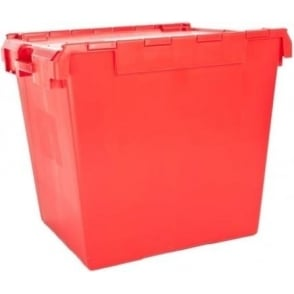 Pallet of 5 - 165 Litre Large Attached Lid ALC Heavy Duty Storage Container - Computer Crate IT1