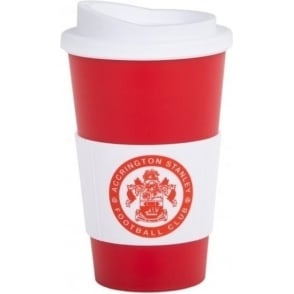 Accrington Stanley Large Americano Cup with Silicone Band