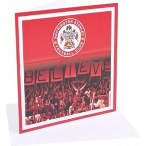 Accrington Stanley Birthday Card Believe
