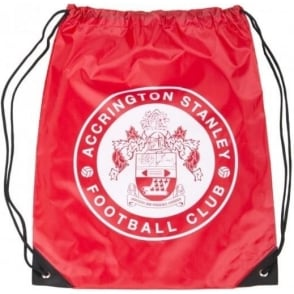 Accrington Stanley Drawstring Gym Bag with ASFC Crest