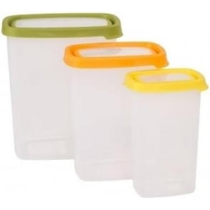 Seal It 3 Piece Tall Rectangular Food Box Set (3.2L,1.7L,750ml)