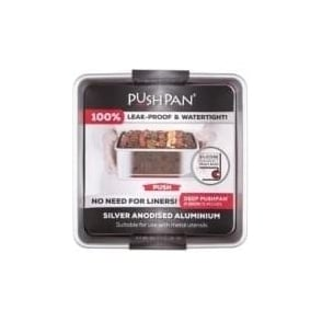 20cm PushPan Aluminium Deep  Square Tin