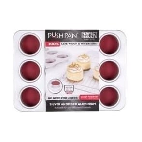12 cup PushPan Aluminium Muffin Tin