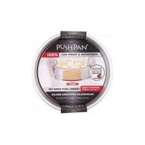 20cm PushPan Aluminium Deep Tin