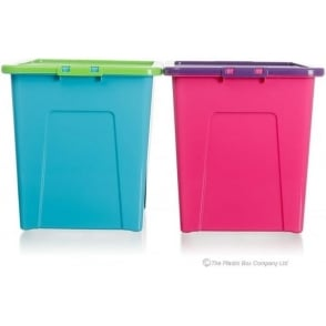 Wham Storage Pack of 3 - 80 Litre Large Plastic Storage Boxes with Lids