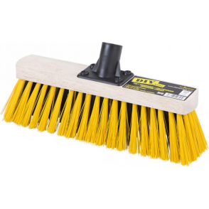 "12"" Wooden Heavy Duty Yard and Path Broom Head"