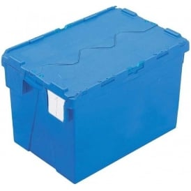 Pack of 2 - 65 Litre Heavy Duty ALC Plastic Storage Boxes With Attached Lids
