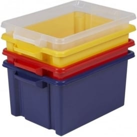 Strata Pack of 5 -  48.5 Litre Jumbo Storemaster Plastic Storage Box - NO LID
