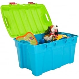 Wham Storage Pack of 4 - 48 Litre Plastic Trunk Storage Boxes