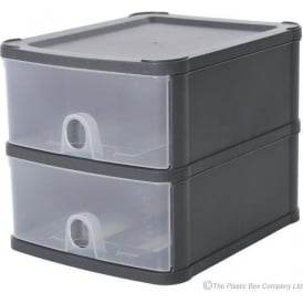 Wham Storage Two A5 Drawer Handi Stackable Modular Drawer System Unit