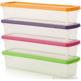 Wham Storage 1.9 Litre Wham Long Shallow Storage Box with Lid