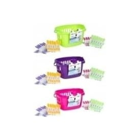 Peg Basket with 24 Soft Grip Pegs