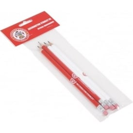 Accrington Stanley Pack of 4 Pencils 2 Red / 2 White