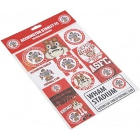 Accrington Stanley A4 Sticker Set