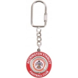 Accrington Stanley Keyring Spinning Crest