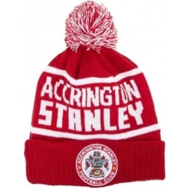 Accrington Stanley Bobble Hat with ASFC Crest