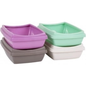 Wham Storage Rimmed Cat Litter Tray with Anti Slip Feet