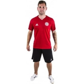 Accrington Stanley New 17/18 Training Kit - Scarlet T-Shirt - Adult