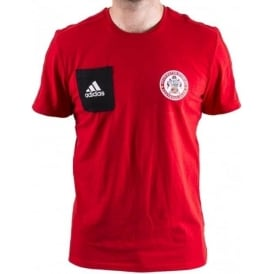 Accrington Stanley New 17/18 T-Shirt Red with Patch - Adult
