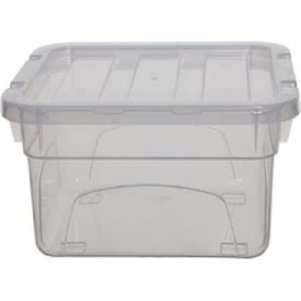 Whitefurze 1.8 Litre (18cm) Mini Handy Plastic Storage Box