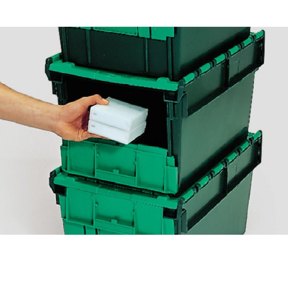Attractive Front Opening Storage Containers Part - 14: Pack Of 4 - 54 Litre Heavy Duty Plastic Storage Picking Container - Front  Opening