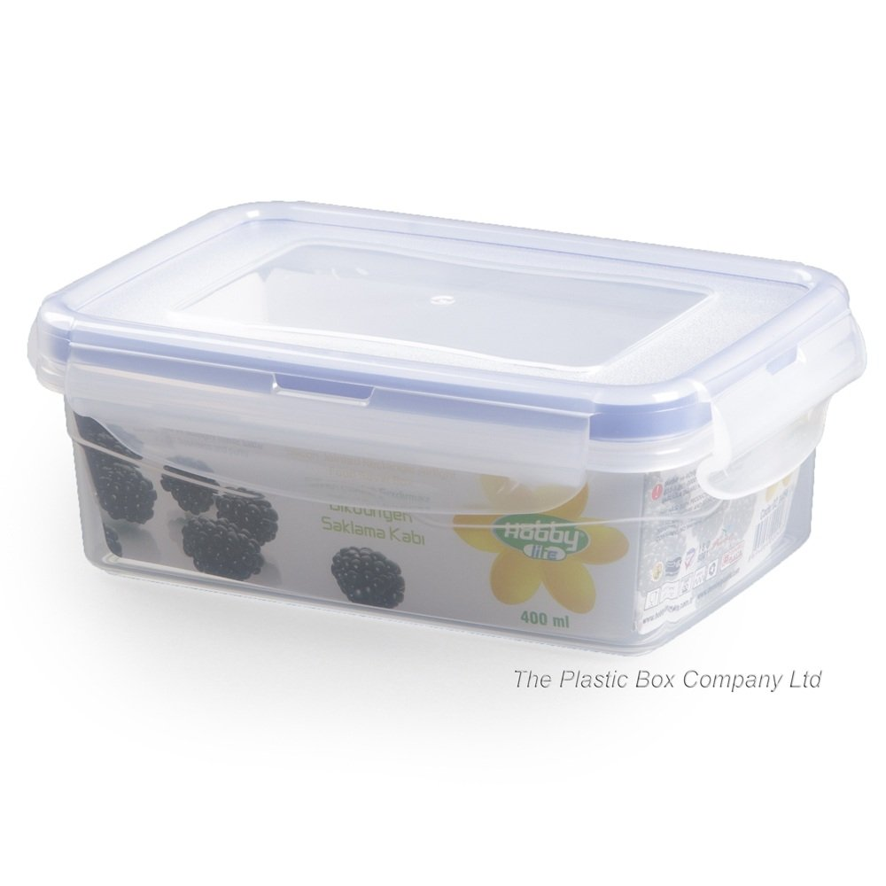 buy 400ml plastic food box with clip on lid 400ml. Black Bedroom Furniture Sets. Home Design Ideas