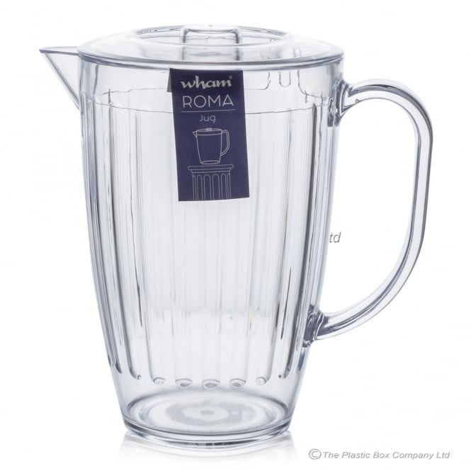 Roma 2 Litre Jug with Lid - Clear