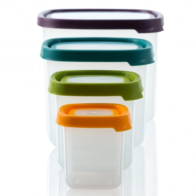 Seal It 4 Piece Square Food Box Set (3.5L, 1.7L, 650ml, 230ml)
