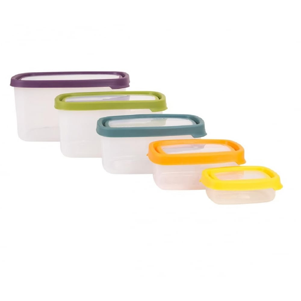 Buy 5 piece food storage box set great value airtight for 3 pieces cuisine