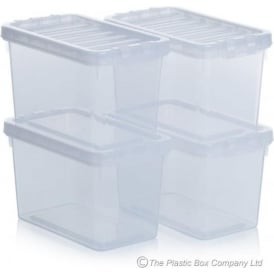 Set of 4 - 1.7 Litre Crystal Boxes with Lids