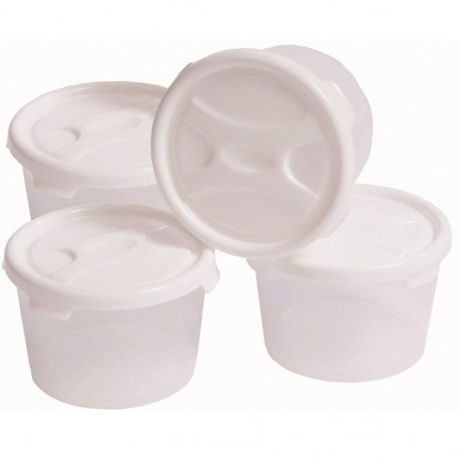 Set of 4 - 300ml Plastic Handy Baby Food Pots