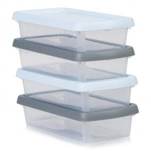 Wham Storage Set Of 4   800ml Wham Box Assorted Coloured Lids