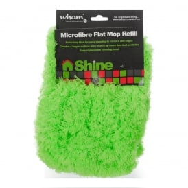 Shine Deluxe Microfibre Feather Flat Mop Silver/Lime Refill