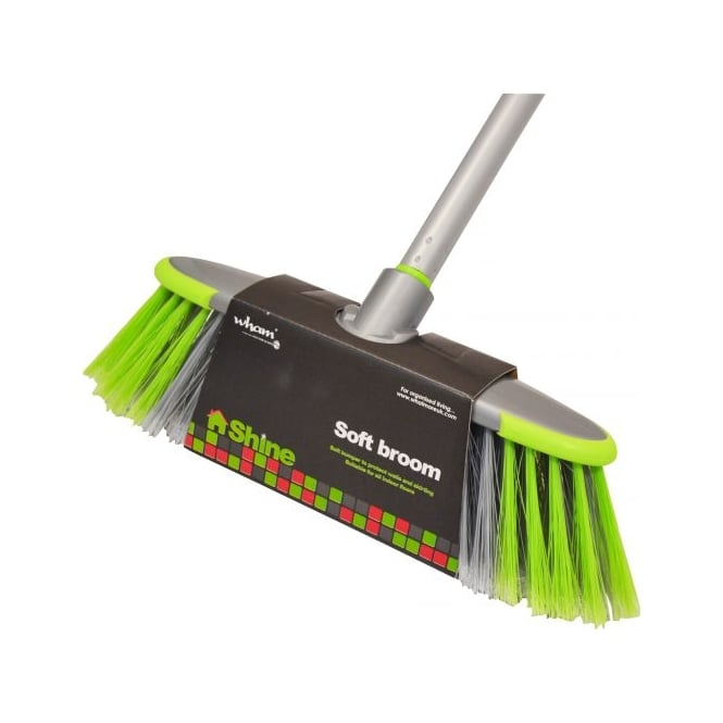Shine Deluxe Soft Broom with Handle