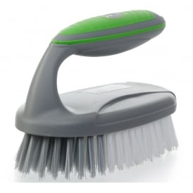 Shine Deluxe Soft Touch Scrubbing Brush Silver/Lime
