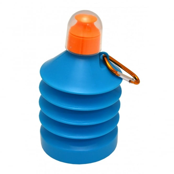 Shrinkable 500ml Plastic Water Bottle Blue/Orange